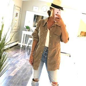 Vintage Wrangler tan corduroy jacket shirt medium